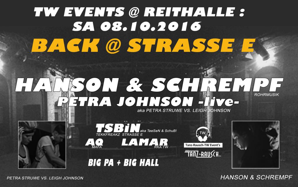 08.10.2016 - Hanson & Schrempf Back @ Strasse E